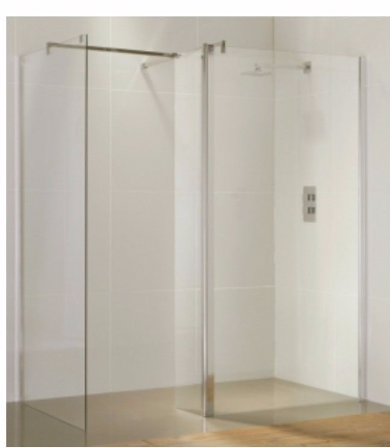 6mm Purity Straight Walk In Shower, Return Panel & Stabilising Bar - Various Sizes